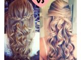 Cute and Easy Hairstyles for Homecoming Love the Left Hairstyle Super Easy and Cute Pin and Curl