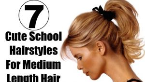 Cute and Easy Hairstyles for School for Medium Length Hair 7 Cute School Hairstyles for Medium Length Hair