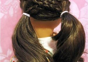 Cute and Easy Hairstyles for Your American Girl Doll Cross Over Pigtails Doll Hairdo Pinterest