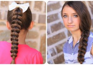 Cute and Very Easy Hairstyles Pull Through Braid Easy Hairstyles