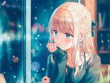 Cute Anime Hairstyles for Girls Anime 2000×2830 Anime Anime Girls Long Hair Blonde Sweater Snow Aqua