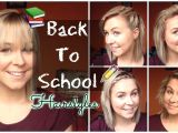 Cute Back to School Hairstyles for Medium Length Hair Back to School Quick & Easy Hairstyles Shoulder Length