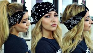 Cute Bandana Hairstyles Hair Down En Vidéo Pia Mia & Kylie Jenner Inspired Bandana Hairstyles Hair