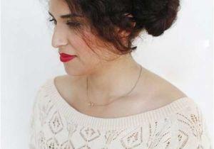 Cute Bun Hairstyles for Curly Hair 20 Buns for Curly Hair