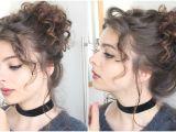 Cute Bun Hairstyles for Curly Hair Giant Messy Curly Bun Loepsie