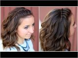 Cute Curly Hairstyles Youtube Diy Faux Waterfall Headband