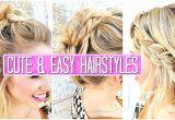 Cute Easy to Do Hairstyles for Medium Hair 3 Easy Hairstyles for Short Medium Hair Tutorial