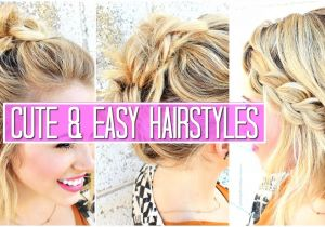 Cute Easy to Do Hairstyles for Medium Hair 3 Easy Hairstyles for Short Medium Hair Tutorial