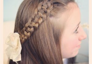 Cute Girl Hairstyles for School Pictures 4 Strand Slide Up Braid Pullback Hairstyles