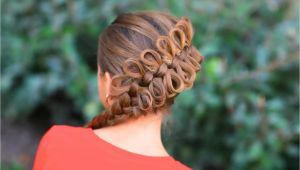 Cute Girls Hairstyles Bow Braid Women Fashion Updates Diagonal Bow Braid Hairstyle for Girls