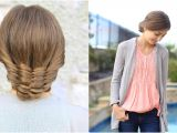 Cute Girls Hairstyles Youtube Channel the Woven Updo