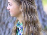 Cute Girls Hairstyls Scissor Waterfall Braid Bo