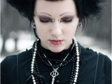 Cute Gothic Hairstyles Goth Girl with Neo Victorian Dress and Skeletal Hair Clips
