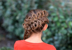 Cute Gurls Hairstyles Diagonal Bow Braid Popular Hairstyles