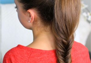 Cute Gurls Hairstyles Fluffy Fishtail Braid Hairstyles for Long Hair