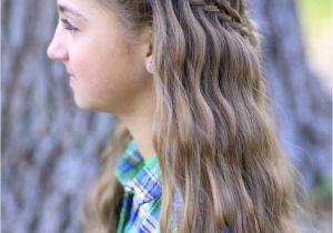 Cute Gurls Hairstyles Scissor Waterfall Braid Bo