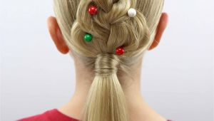 Cute Hairstyles Christmas for An Easy Christmas Hairstyle Try This Cute Christmas Tree Braid