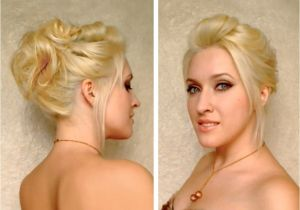 Cute Hairstyles for A Night Out Easy Party Updo for Medium Long Layered Hair Tutorial Cute
