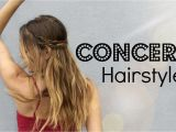 Cute Hairstyles for Country Concerts How to Messy Concert Hair 2 Braided Up Do S
