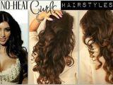Cute Hairstyles for Curly Hair No Heat No Heat Curl Hair Tutorial Video