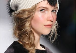 Cute Hairstyles for Hats Cute Cozy Hat Hairstyles to Try This Fall