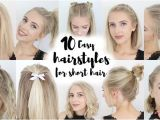 Cute Hairstyles for School with Short Hair 17 Easy Back to School Hairstyles