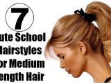Cute Hairstyles for Shoulder Length Hair for School 7 Cute School Hairstyles for Medium Length Hair