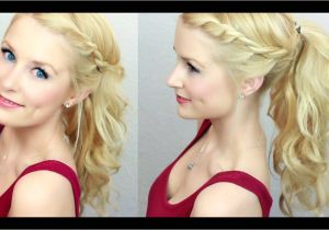 Cute Hairstyles On Youtube Cute & Easy Twisted Ponytail Much Requested