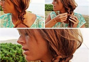 Cute Hairstyles to Wear to the Beach Beach Hairstyle Ideas Knotted Braid Side Ponytail