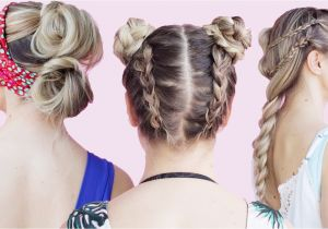 Cute Hairstyles to Wear to the Beach Easy Beach Hairstyles Tutorial Kayleymelissa