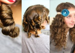 Cute Hairstyles when You Curl Your Hair Cocoon Curls No Heat Curl Hairstyles
