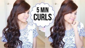 Cute Hairstyles when You Curl Your Hair Hairstyle Hack How to Curl Your Hair In 5 Minutes