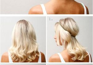 Cute Hairstyles with Just A Hair Tie Headband Updo for More Fashion and Wedding Inspiration Visit