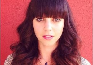 Cute Hairstyles with Straight Across Bangs 40 Cute Styles Featuring Curly Hair with Bangs