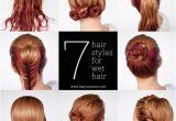Cute Hairstyles with Wet Hair Get Ready Fast with 7 Easy Hairstyle Tutorials for Wet