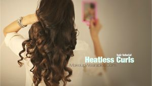 Cute Hairstyles without Heat Kim Kardashian Hairstyles How to No Heat Curls