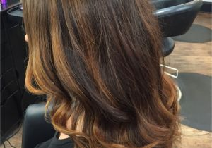 Cute Natural Highlights Rich Coppery Chocolate Brown Natural Base Color with Balayage