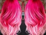Cute Pink Highlights Hot Pink Baby Pink Ombre Hair ♡ Hair Ideas