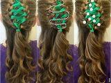 Cute Ribbon Hairstyles Corset Ribbon Braided Christmas Tree Hairstyle Tutorial