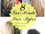 Cute Running Hairstyles 5 Minute Hairstyles for Girls
