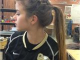 Cute soccer Hairstyles High Styling Hair Made with A Braid