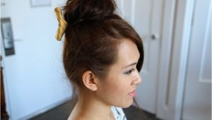 Cute Teased Hairstyles Teased High Bun Cute Updo Hairstyles