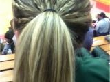 Cute Volleyball Hairstyles Tiny Multiple Braids Tied Into A Ponytail