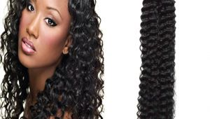 Deep U Haircut for Curly Hair Brazilian Deep Curly Natural Black Human Hair U Tip Hair Extensions