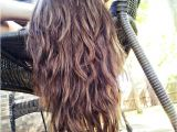 Deep U Haircut for Curly Hair Straight ish Wavy Long Hair with tons Of Layers
