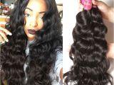 Deep Wave Hairstyles for Black Women 2018 的 Nadula Cheap Peruvian Virgin Hair 4 Bundles Natural Wave