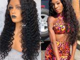 Deep Wave Hairstyles for Black Women Zendaya Full Lace Human Hair Wig Deep Body Wave In 2018