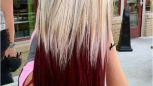 Dip Dye Hairstyles for Blondes Burgundy Dip Dye Hair