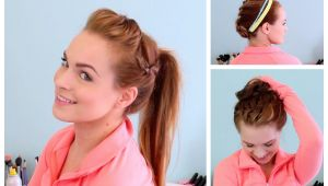 Diy Gym Hairstyles 3 Workout Ready Hairstyles Diy Headband