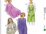 "Diy Haircut Cape Kwik Sew Sewing Pattern 3047 Uni Sizes S L Chest 34 44"" Smocks"